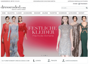 Bildschirmfoto Dresscoded-Shop
