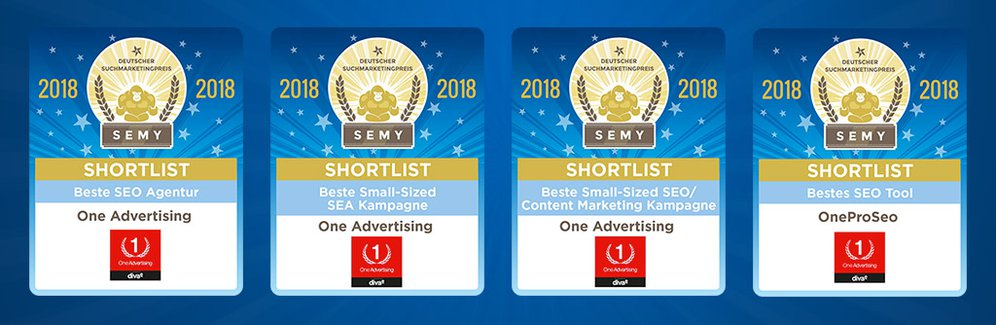 SEMY Awards 2018: One Advertising vierfach nominiert