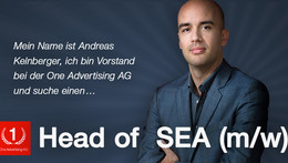 SEA: Head of SEA bei der One Advertising (m/w)