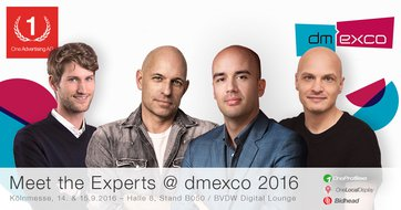 dmexco 2016 – Meet the Experts