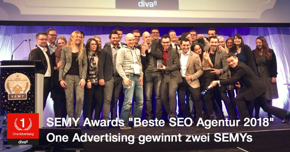 "SEMY Awards 2018: One Advertising zum dritten Mal ""Beste SEO Agentur"""