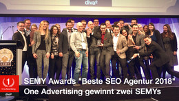 SEMY Award 2018: One Advertising wieder Beste SEO Agentur