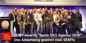 "SEMY Awards 2018: One Advertising erneut ""Beste SEO Agentur"""