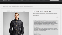 Belstaff Fashion Onlineshop - One Advertising AG