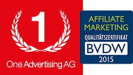 Affiliate Marketing Zertifikat für One Advertising AG
