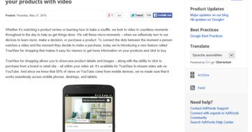 Google Inside AdWords - Introducing TrueView for shopping