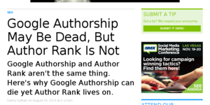 Google Authorship ist nicht Author Rank