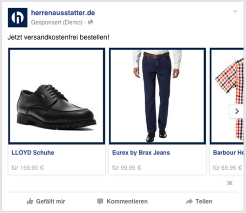 Dynamic Product Ads herrenausstatter.de