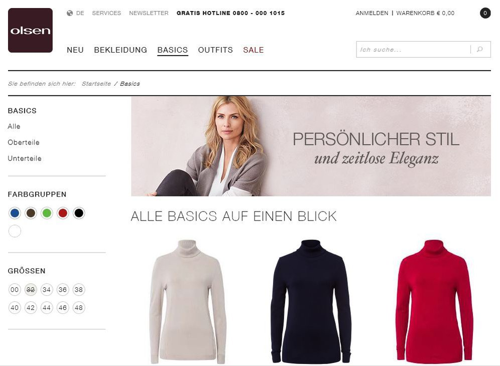 Olsen Fashion Onlineshop