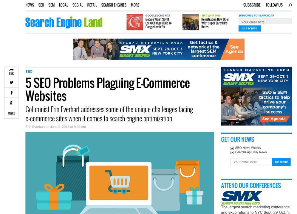 Search Engine Land 5 SEO Problems Plaguing E-Commerce Websites