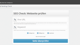 SEO Tools: Sitecheck & Ranking Check