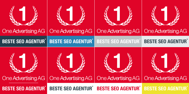 Logo One Advertising in verschiedenen Farbversionen