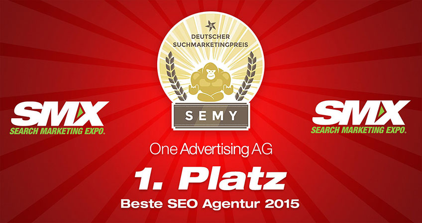 SMX Search Marketing Expo: One Advertising AG gewinnt 1. Platz als beste SEO Agentur 2015