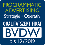 BVDW Qualitätszertifikat - Programmatic Advertising