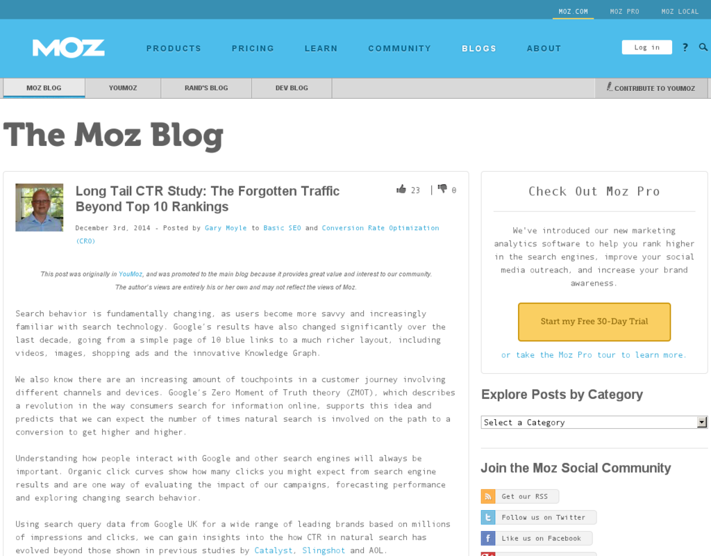 SEO: Long Tail CTR Study - Der Traffic hinter den Top 10
