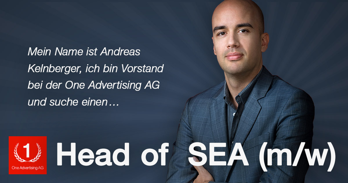 SEA: Head of SEA bei der One Advertising AG (m/w)