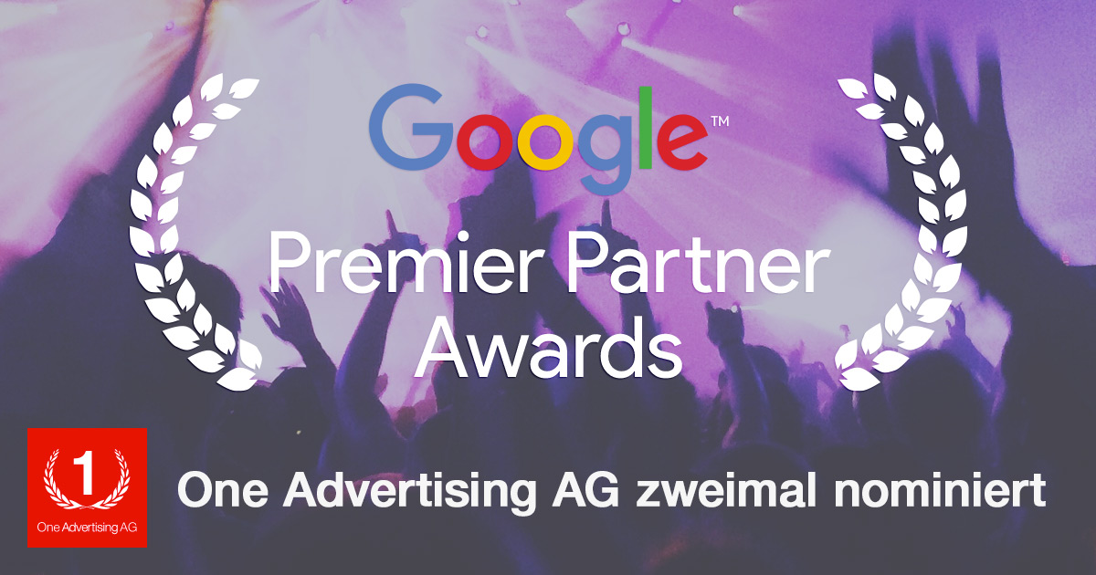 Google Premier Partner Awards 2016: 2-fache Nominierung