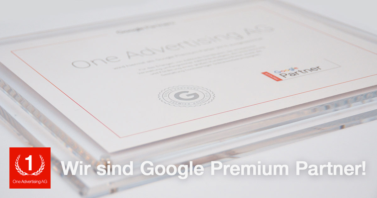 One Advertising AG ist Google Premium Partner