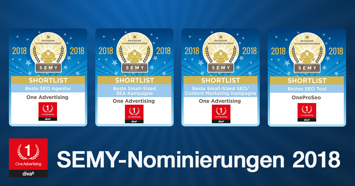 SEMY Awards 2018: One Advertising viermal nominiert
