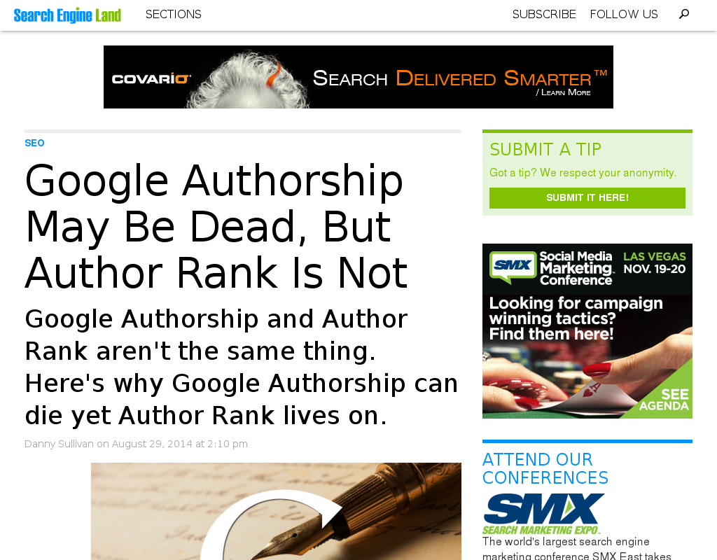 SEO: Google Authorship ist nicht Author Rank