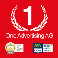 One Advertising AG Logo Zertifizierungen